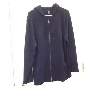 Heavy weight Hooded Zip Front Sweater